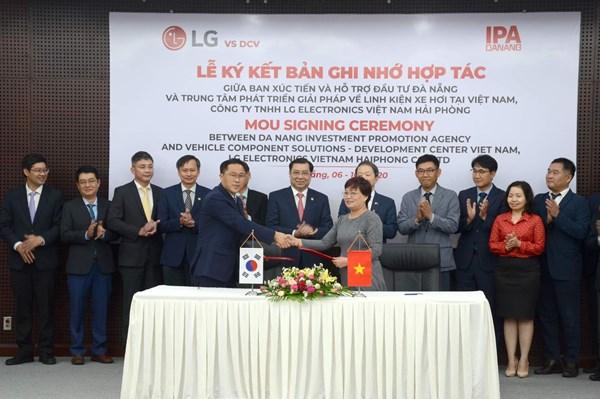 Đà Nẵng ký hợp tác với Tập đoàn LG trong nghiên cứu và phát triển điện tử