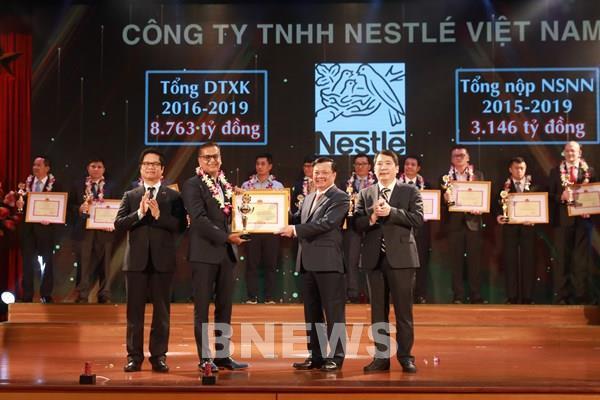 Nestlé Việt Nam được vinh danh đơn vị nộp thuế tiêu biểu