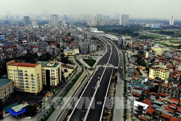 Phân luồng giao thông qua cầu cạn Vành đai 3 trên cao, đoạn Mai Dịch - Nam Thăng Long