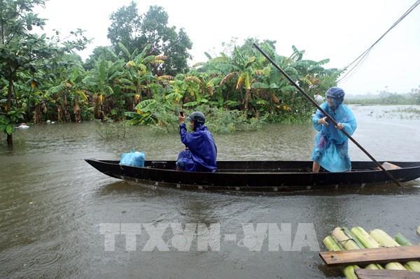 Đà Nẵng sơ tán, đảm bảo an toàn cho hàng trăm hộ dân bị ngập lụt