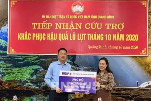 BIDV dành 1 tỷ đồng hỗ trợ đồng bào bị ảnh hưởng lũ lụt tại Quảng Bình, Quảng Trị