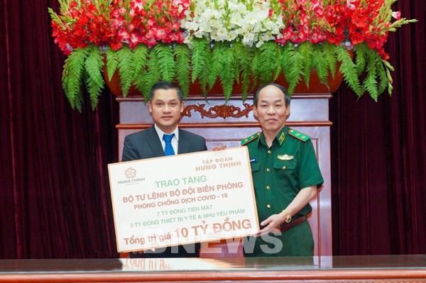Tập đoàn Hưng Thịnh hỗ trợ 10 tỷ đồng phòng, chống dịch COVID-19