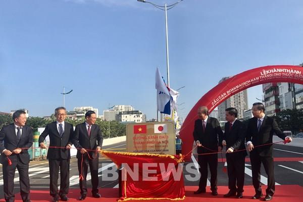 Phó Thủ tướng Trương Hòa Bình phát lệnh thông xe cầu cạn đoạn Mai Dịch - Nam Thăng Long