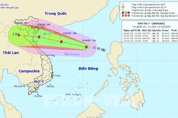 Bão số 7 gây gió giật cấp 11 tại vùng biển các tỉnh Đồng bằng Bắc Bộ, Bắc Trung Bộ