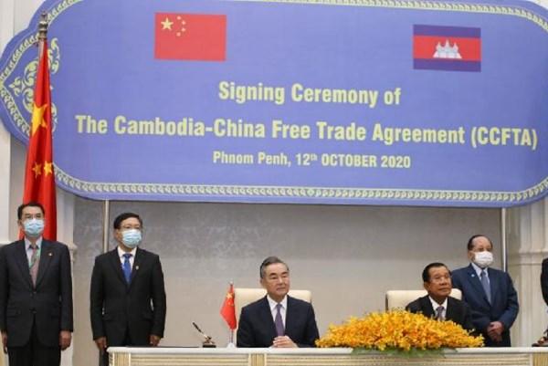 Trung Quốc và Campuchia ký Hiệp định Thương mại Tự do