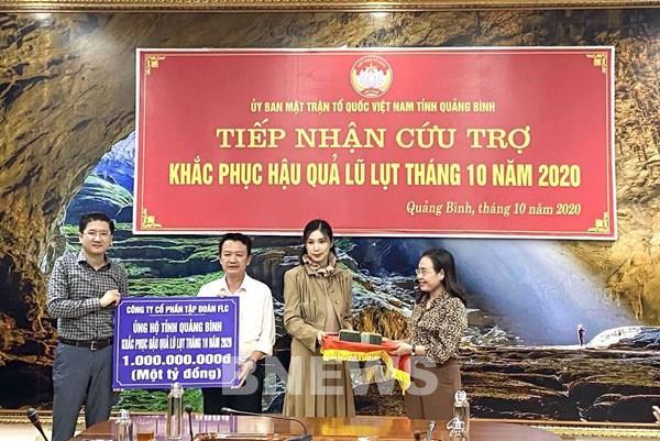 Tập đoàn FLC hỗ trợ Quảng Bình khắc phục hậu quả mưa lũ
