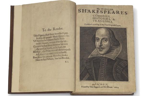 9,97 triệu USD cho bản sao tuyển tập kịch đầu tiên của Shakespeare