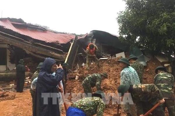 Sạt lở đất ở miền núi Quảng Trị, khả năng nhiều người bị vùi lấp