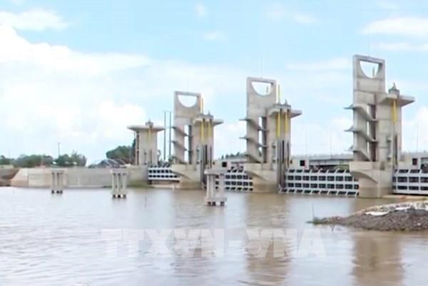 Vận hành xả cống kiểm soát lũ sông Cửu Long và vùng Tứ Giác Long Xuyên