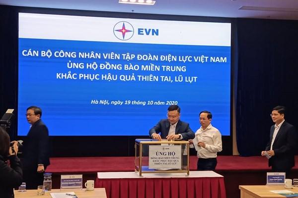 EVN, Kho bạc Nhà nước quyên góp ủng hộ đồng bào miền Trung