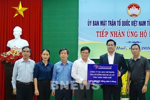Vietravel ủng hộ 1 tỷ đồng cho tỉnh Thừa Thiên Huế khắc phục hậu quả lũ lụt
