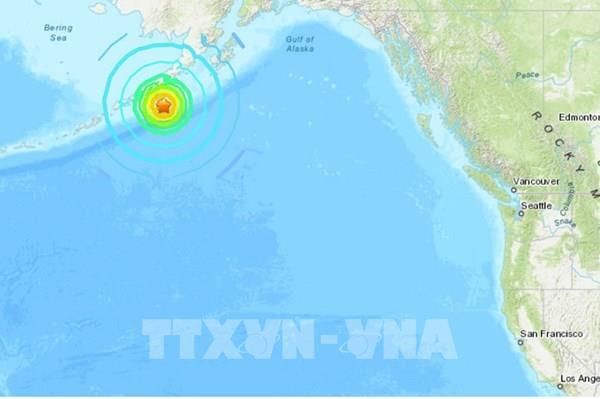 Mỹ: Động đất độ lớn 7,5 tại Alaska gây sóng thần nhỏ