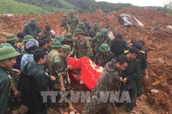 Đã đưa được thi thể Thượng úy công an hy sinh khi đi cứu nạn về Đông Hà