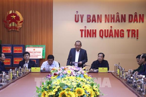 Phó Thủ tướng  Trương Hòa Bình chỉ đạo khắc phục hậu quả lũ lụt ở Quảng Trị