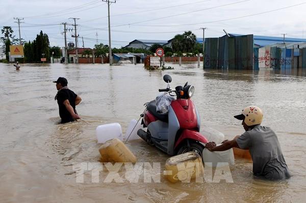 Campuchia: Lũ lụt gây thiệt hại nặng nề cho 19 tỉnh và thủ đô Phnom Penh