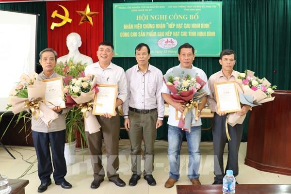 """Công bố nhãn hiệu chứng nhận """"Nếp hạt cau Ninh Bình"""""""