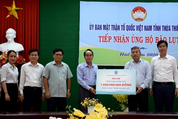 PVN quyên góp được gần 20 tỷ đồng ủng hộ đồng bào miền Trung