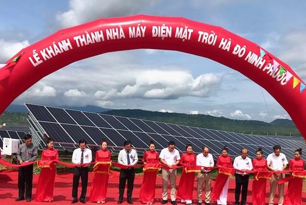 Khánh thành Nhà máy Điện mặt trời Hà Đô Ninh Phước công suất 50 MWp