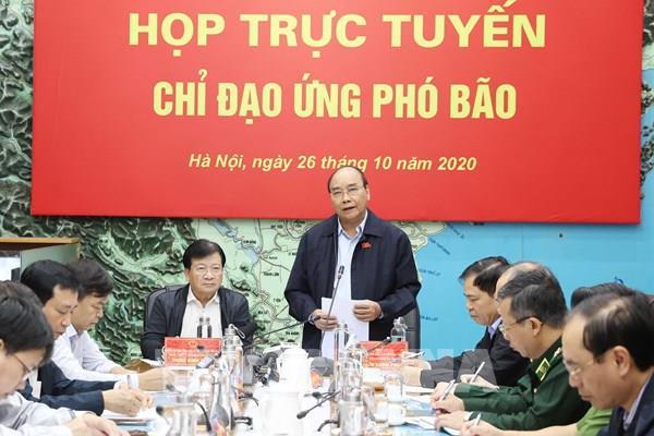 Thủ tướng Nguyễn Xuân Phúc chủ trì họp ứng phó với cơn bão Molave