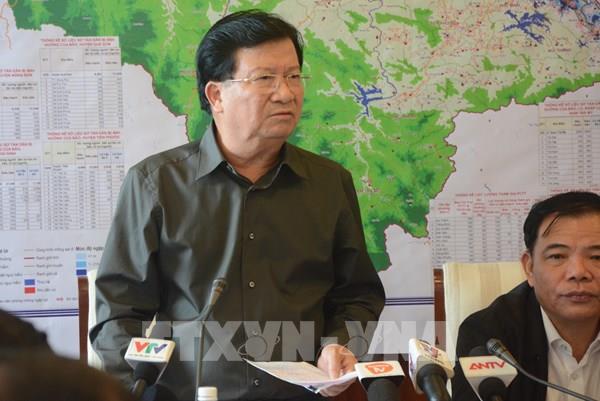 Ứng phó bão số 9: Phó Thủ tướng Trịnh Đình Dũng chủ trì họp Ban Chỉ đạo tiền phương
