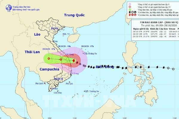 Bão số 9: Đảo Cồn Cỏ có gió giật cấp 9, cảnh báo lũ và sạt lở đất