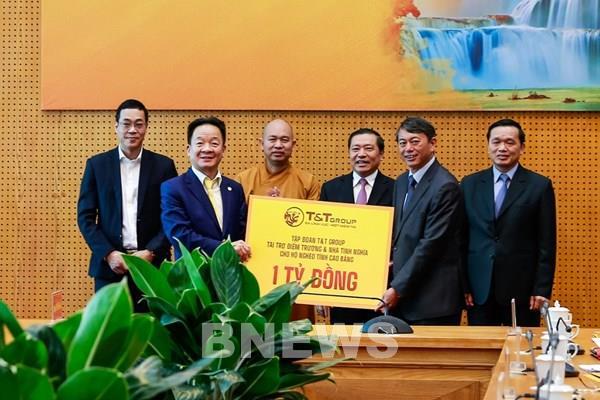 """""""Bầu Hiển"""" ủng hộ 5 tỷ đồng xây điểm trường và nhà tình nghĩa tại Cao Bằng"""