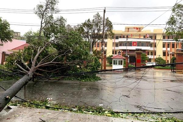 Mất điện tại 7.500 trạm biến áp miền Trung do ảnh hưởng bão số 9