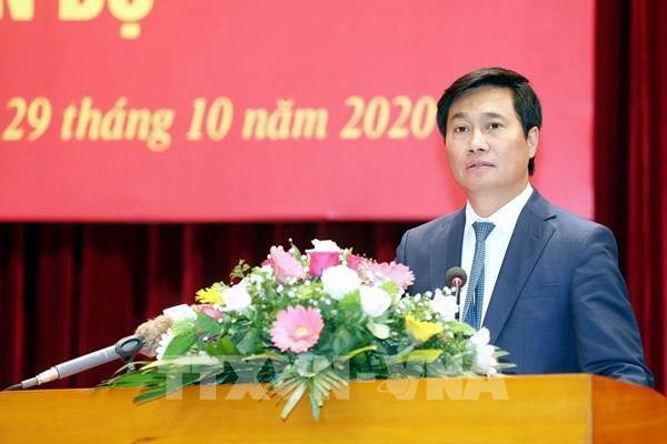 Thứ trưởng Bộ Xây dựng Nguyễn Tường Văn giữ chức Phó Bí thư Tỉnh ủy Quảng Ninh