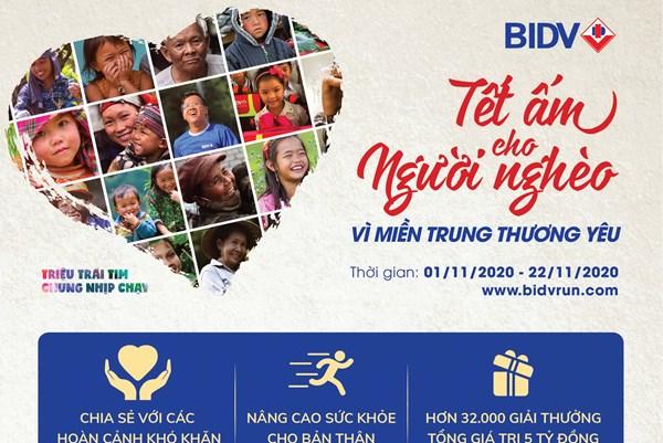 """BIDV tổ chức giải chạy""""Tết ấm cho người nghèo – Vì miền Trung thương yêu"""""""