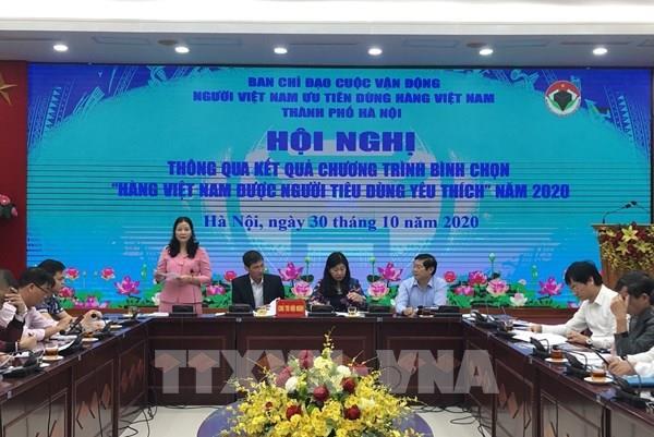 """Hà Nội có 141 sản phẩm đạt danh hiệu """"Hàng Việt Nam được người tiêu dùng yêu thích"""""""
