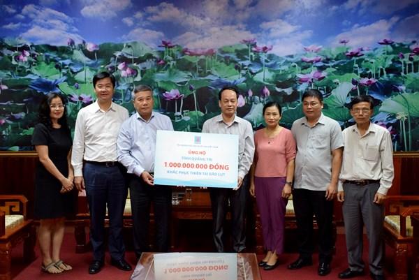 PVN và các đơn vị thành viên ủng hộ miền Trung và người nghèo 328 tỷ đồng