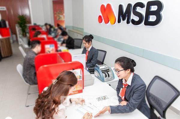 MSB dự kiến chia cổ tức tối thiểu 15%