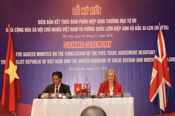 Hiệp định thương mại tự do Việt Nam - Anh sẽ chính thức có hiệu lực từ 1/5