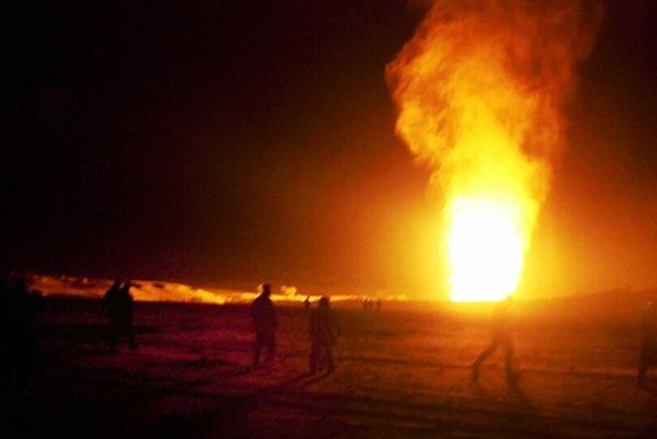 Nổ đường ống dẫn khí gas ở Ai Cập