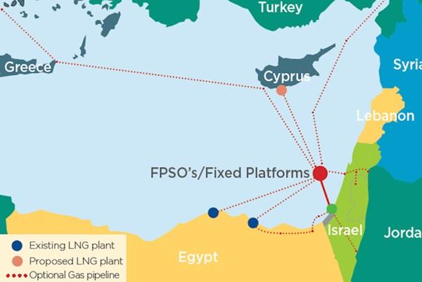 Israel và Ai Cập sẽ xây đường ống dẫn khí đốt ngoài khơi