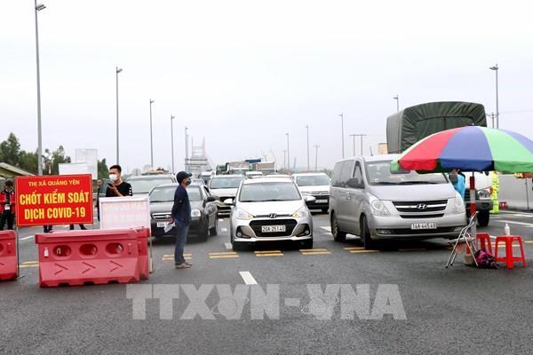 Người từ vùng dịch đến Quảng Ninh phải có giấy xét nghiệm âm tính với SARS-CoV-2