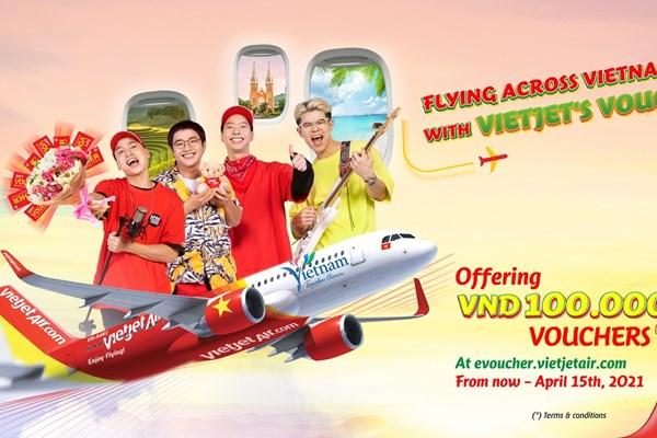 Vietjet Air tặng hàng triệu voucher mua vé máy bay