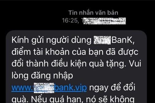 Cảnh báo mạo danh tin nhắn thương hiệu ngân hàng