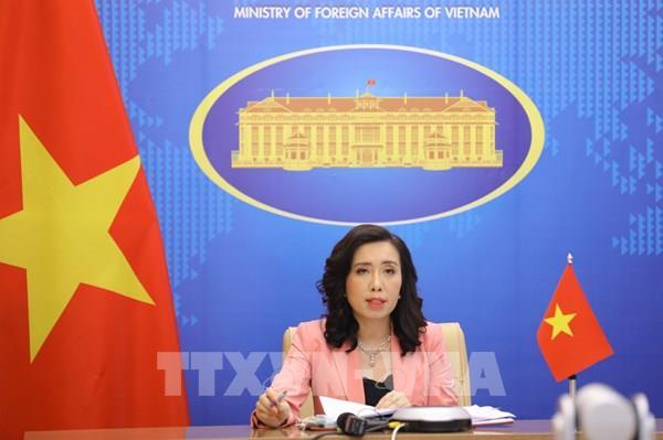 Người Phát ngôn Bộ Ngoại giao yêu cầu các bên liên quan tôn trọng chủ quyền của Việt Nam