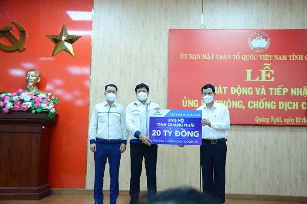 Hòa Phát ủng hộ Quảng Ngãi 20 tỷ đồng phòng chống dịch COVID-19