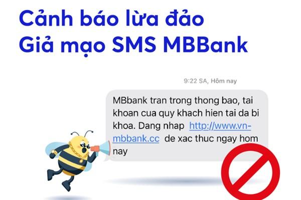 MB cảnh báo xuất hiện tin nhắn lừa đảo, giả mạo MBBank