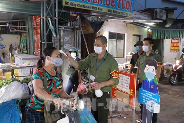 Phòng chống dịch COVID-19 tại chợ đầu mối của Hà Nội
