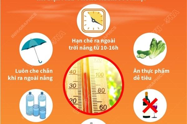 Cách phòng tránh sốc nhiệt mùa hè