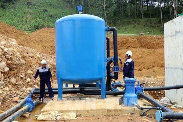 Chủ đầu tư cam kết đưa Nhà máy nước Thượng Long vào hoạt động trong tháng 9/2021