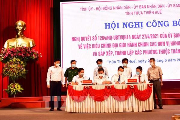 Thừa Thiên – Huế công bố điều chỉnh địa giới hành chính cấp huyện, phường