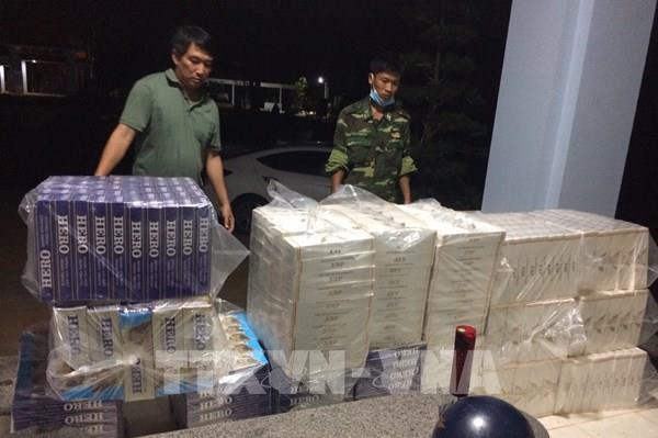 Tây Ninh: Thu giữ trên 14.000 gói thuốc lá ngoại nhập lậu