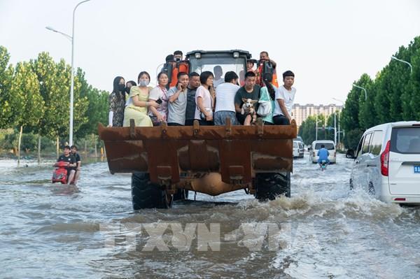 Mưa lũ tại Trung Quốc tiếp tục gây nhiều thiệt hại
