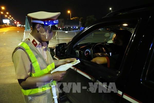 Cục trưởngCụcCảnh sát giao thôngkiểm tra tại các chốt tâm điểm ra, vào Hà Nội