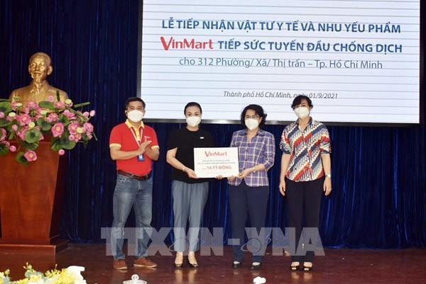Tp Hồ Chí Minh tiếp nhận vật tư y tế và nhu yếu phẩm hỗ trợ 312 xã, phường