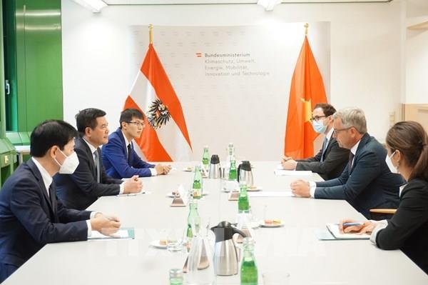 Việt Nam và Áo trở thành cầu nối giúp nhau tiếp cận các thị trường